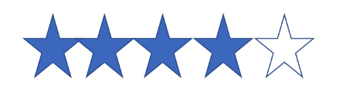 four stars highlighted out of five