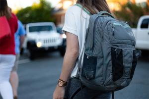 Heavy backpacks are a pain for kids